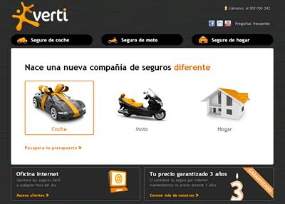 Verti seguros nueva aseguradora de coches motos y hogar for Oficina internet verti